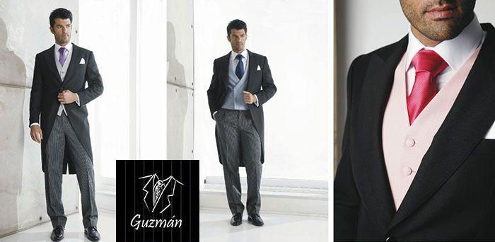 Chaqué marino con chaleco azul cruzado | Suit and tie, Mens