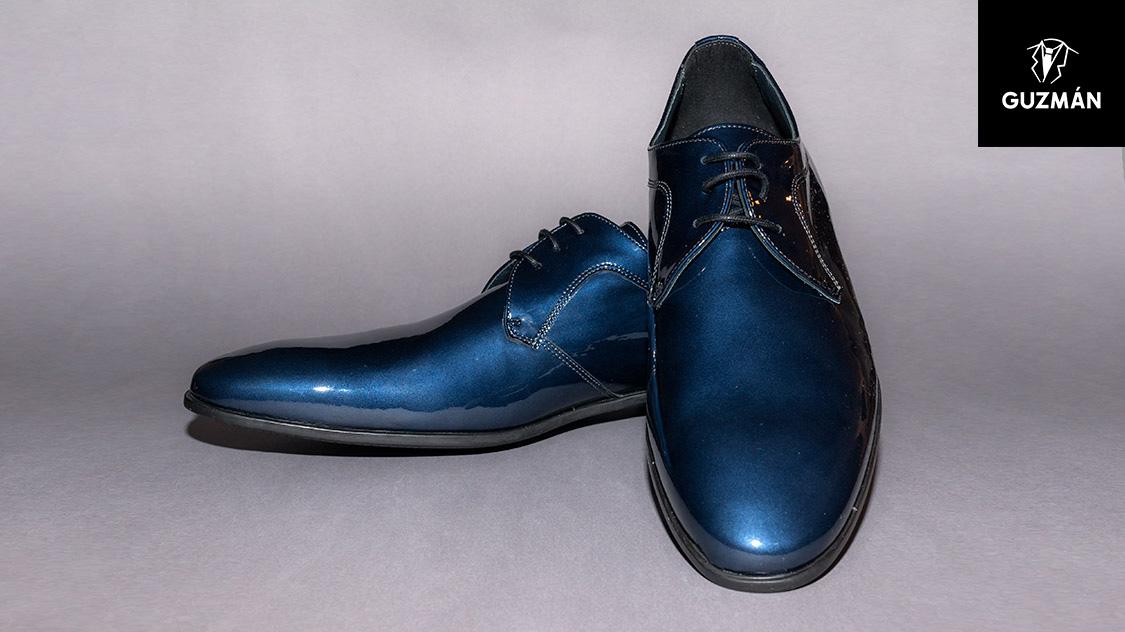 7a3ae09bcd Zapato charol azul marino