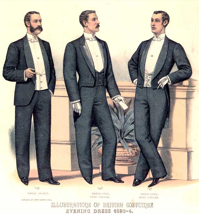 Ilustración trajes de etiqueta