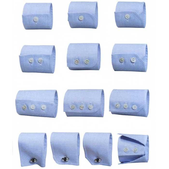 Tipos de puños para camisas a medida