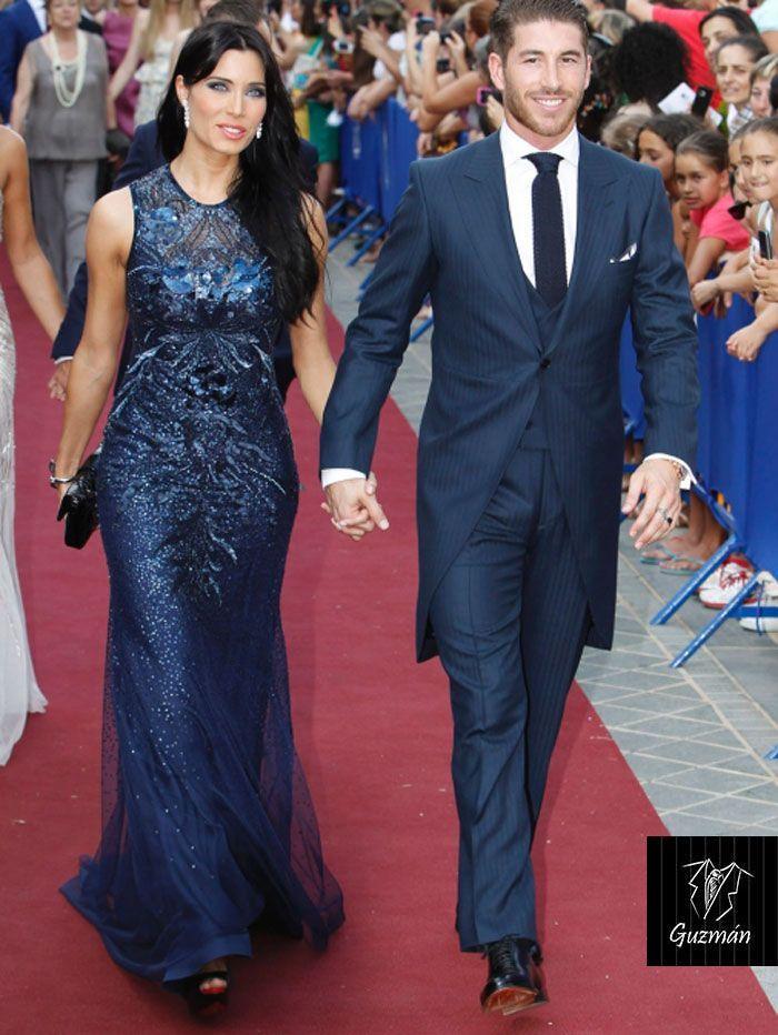 Sergio Ramos luce impecable un chaqué azul marino