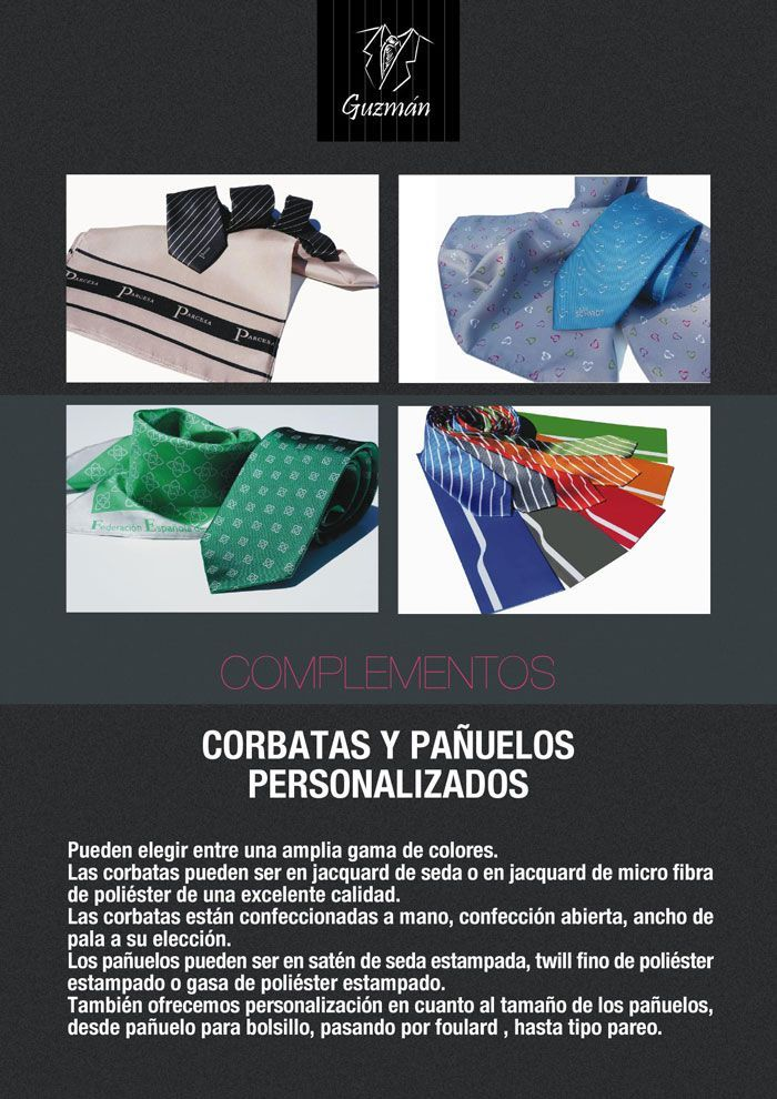 Corbatas y pañuelos personalizados