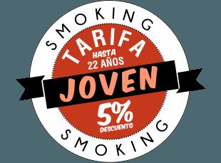 promoción smoking Tarifa Joven (Hasta 22 años)