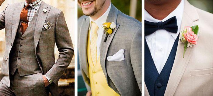Pañuelos y prendidos para novio