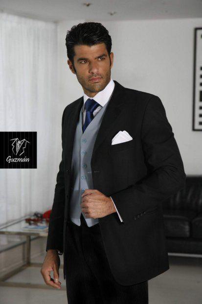 Alquiler de traje negro y gris marengo
